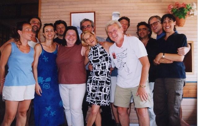 Eté 2003 à Capbreton. Luc Sotiras et Maurice Segall en compagnie de professionnels des deux côtés de l'Atlantique réunis pour créer une association ... qui ne verra jamais le jour