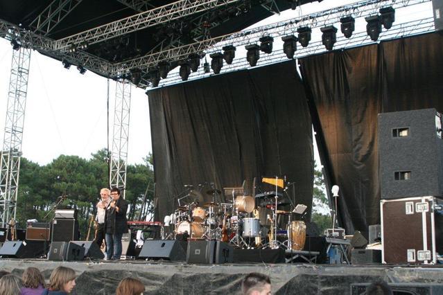 Eté 2008, Capbreton : sur la grande scène avec Monique Giroux, de Radio Canada
