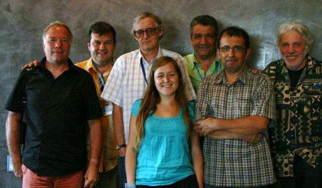 Capbreton 2008 : sous la présidence de Pierre Barouh, réunion du jury du tremplin de la relève