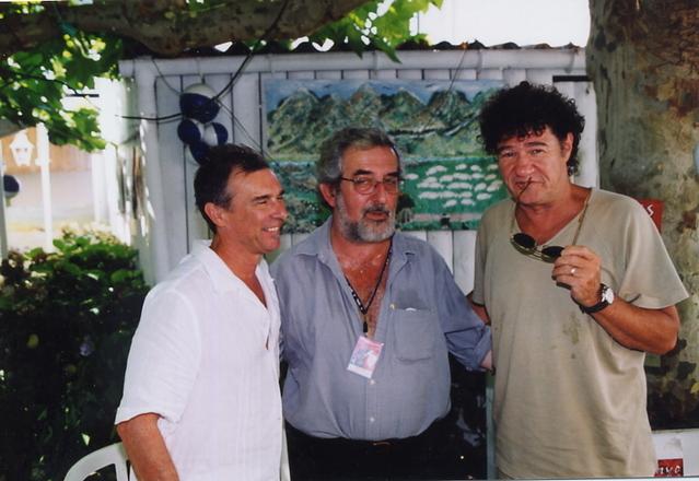 Août 2003, Capbreton, entre Zachary Richard et Robert Charlebois