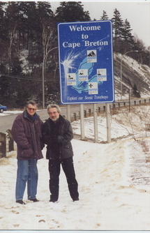 Février 2000 : entrée de la péninsule de Cap-Breton, Nouvelle-Ecosse, en route vers Sydney pour les ECMA