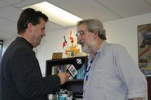 FrancoFête 2007, au micro de Radio Canada durant la réception au consulat de France à Moncton
