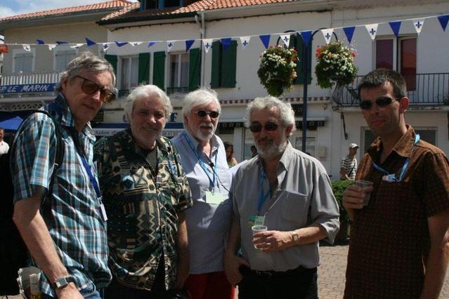 Capbreton 2008 : Albert Weber, Pierre Barouh, Christian Sercomanens, Maurice Segall et François Louwagie