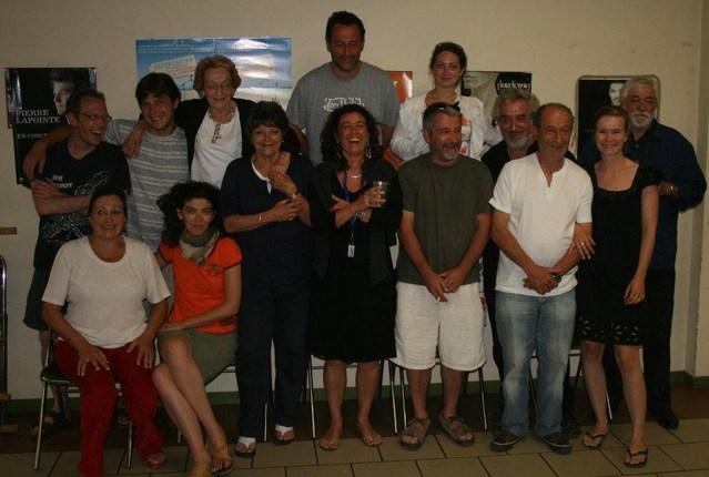 Capbreton 2007 : photo-souvenir avec une partie du groupe des bénévoles composé de membres de la famille et d'amis