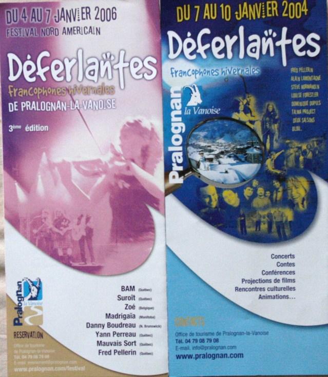 Deux des quatre programmes des Déferlantes Hivernales de Pralognan-la-Vanoise