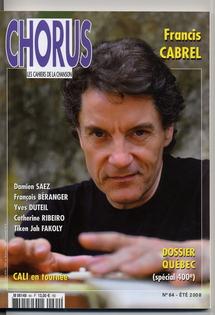 Françis Cabrel, un des parrains de Chorus avec Alain Souchon et Jean-Jacques Goldman