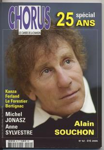 Alain Souchon, à la une pour les 25 ans de Chorus et présent aux Trois Baudets pour l'hommage à Fred et Mauricette Hidalgo