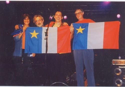 pf ff MAURICE SEGALL CAPBRETON 2000 DRAPEAU ACADIEN
