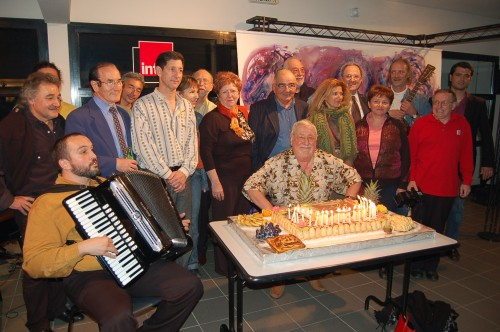 10 mai 2006 L'équipe du festival avec J-L Foulquier
