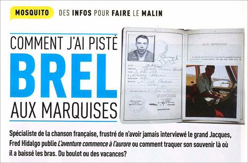FRED M BREL Moustique-Hebdo-Belge