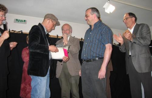 AW Festival 2008 7 mai 205 trophée  du festival à A. Leprest