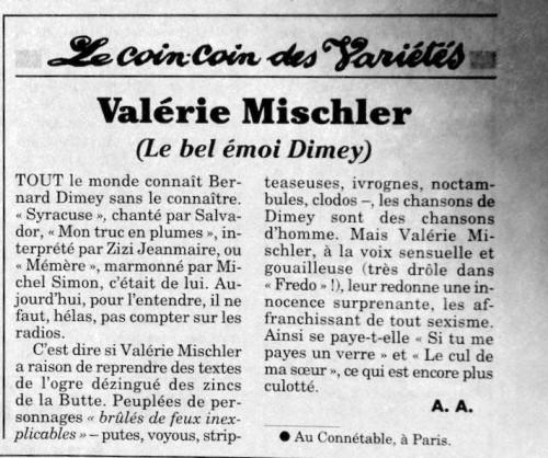 VALERIE MISCHLER CANARD ENCHAINE OK