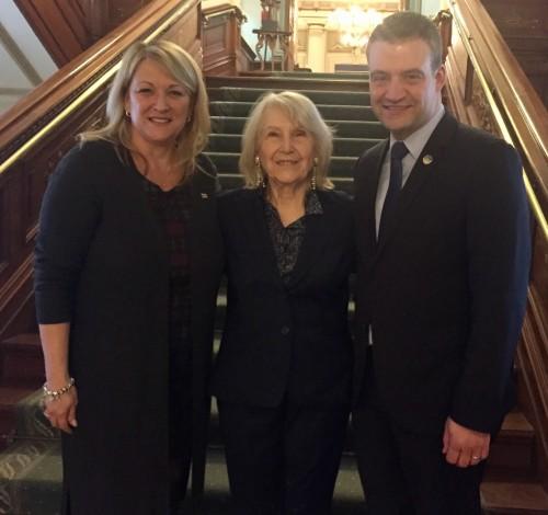 Avec les ministres Lise Thériault et Luc Fortin 2017-02-21